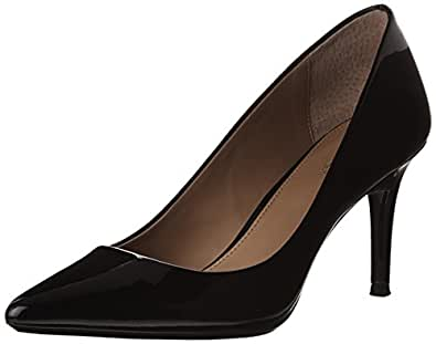 Calvin Klein Women's Gayle Dress Pump,Black Patent, 5 M