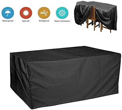AGLZWY-Jardín Funda Muebles Patio Lona Impermeable Protector Mesa Y Silla No Se Desvanecen Anti-UV Resistencia Al Desgarro Tela Oxford 300D, 31 Tamaños (Color : Negro, Size : 190x135x90cm): Amazon.es: Hogar