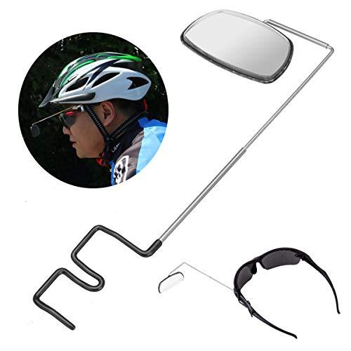 Aluminum Alloy Lightweight 360 Bike Helmet Mount Rear View Mirrors Adjustable - Bike Accessories Bike Mirrors - 1 x Eyeglass Mirror -