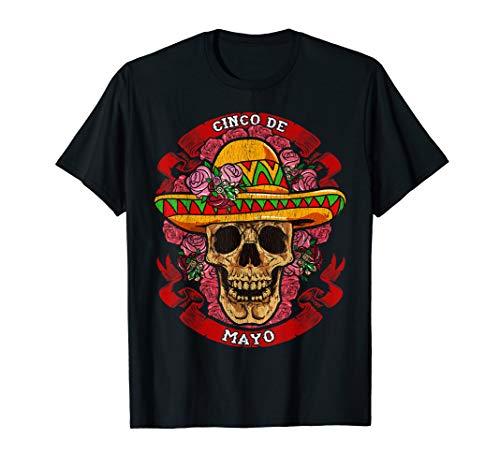 Mexican Fiesta Cinco de Mayo Skull for 5th