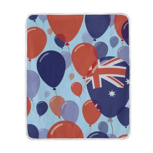 YOLIKA Australia National Day Flat Seamless Pattern Super Soft Throw Blanket Bed Couch Lightweight All Season 30