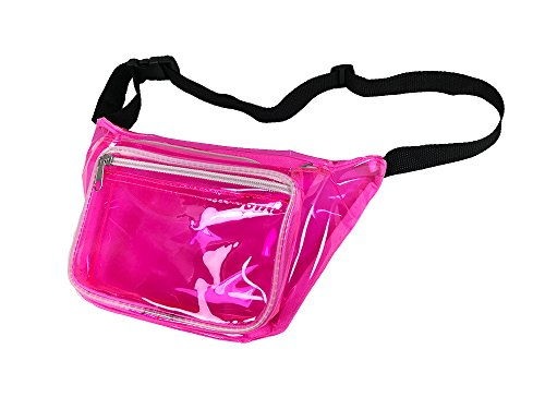 Clear Pink Fanny Pack Made From Transparent Gel / Waterproof (Pink Clear)