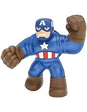 Goo Jit Zu Marvel superhelden set - Captain America, Blauw