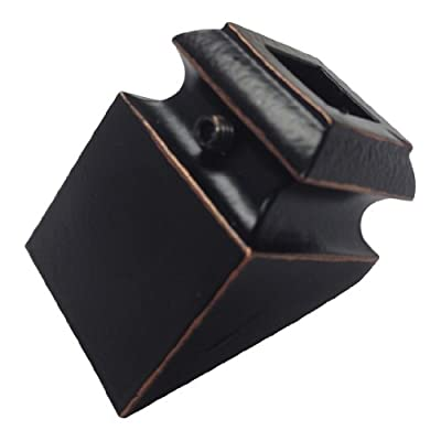 """(Pack of 10) 1/2"""" Metal Shoe Pitched Oil Rubbed Copper For Metal Balusters"""