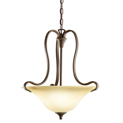 Kichler Wedgeport Inverted Pendant (Two Light Olde Bronze Up Pendant 10742OZ)