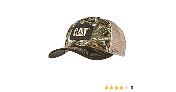 BD/&A Caterpillar CAT Equipment Realtree Xtra Yellow Camouflage Mesh Snapback Cap//Hat
