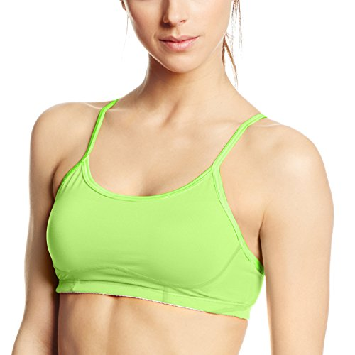 New Balance Womens The Tenderly Obsessive Sports Bra Toxic