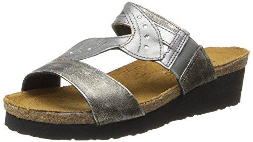 Leder Naot Leder Metall Sterling Sandal Kimberly Frauen Wedge Spiegel Leder vUq10v