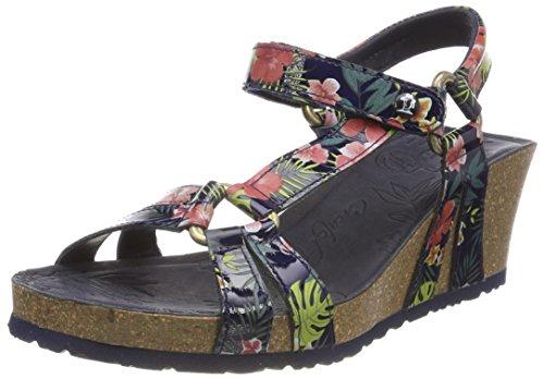 Panama Jack Women's Violetta Tropical Open Toe Sandals Blue (Marino B8) GkUwFT