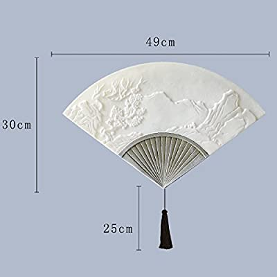BOOTU lámpara LED y luces de pared Piedra malo apliques cuadrados salón escalera balcón lámpara de mesilla paredes texturizadas, Fan Art Deco lámpara de pared de canto: Amazon.es: Iluminación