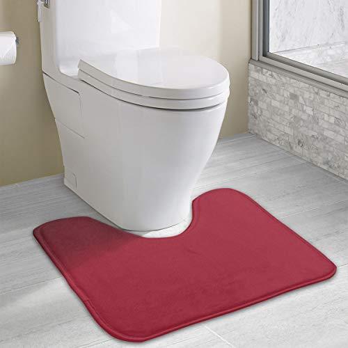9148c1ee457c MOANDJI Bathroom Rug Alabama Crimson Solid Color Bathroom Accessories  Perfect Bathroom/Tub Shower 19.3