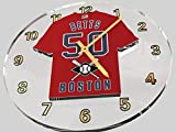 FanPlastic Mookie Betts 50 Boston RED SOX Wall Clock - Major League Baseball Legends Edition !!
