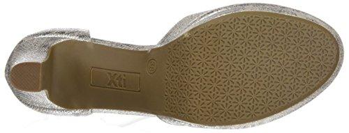 XTI Damen 030569 Geschlossene Schuhe mit Absatz Silber