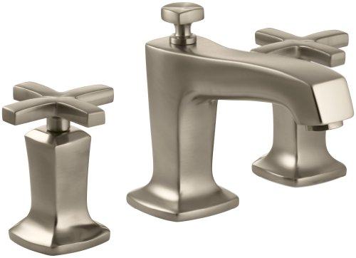 (KOHLER K-16232-3-BV Margaux Widespread Lavatory Faucet, Vibrant Brushed Bronze)