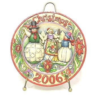 Enesco Jim Shore Heartwood Creek Together At Christmas 2006 Decorative Plate #4006031 ()