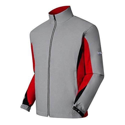 DryJoys FootJoy Hydrolite Rain Jacket Choose Size and Color (Grey/Red/Black, Large)