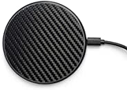 Wireless Charger Pad Carbon Fiber Design by Reveal Shop- Qi Certified, Fast Charging- Compatible w/iPhone 12/1