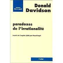 Paradoxes de l'irrationalité