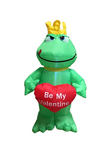 4 Foot Inflatable Frog with Heart Be My Valentine - romantic Valentines Gifts for Couples, Cute Ideas, Good Couple Gifts for Valentines, -