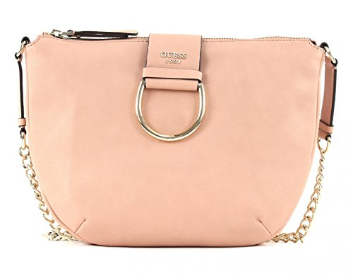 GUESS Fynn Crossbody Hobo Blush