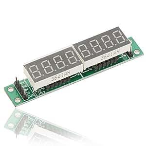 PyLios(TM) 5V MAX7219 8 Bit Red 7 Segment LED Display Module Digital Tube For Arduino MCU