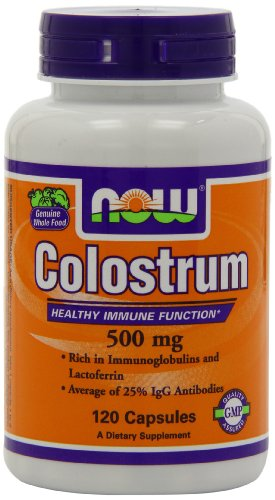 MAINTENANT les aliments Colostrum 500mg, 120 gélules