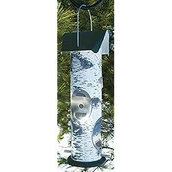 AUDUBON/WOODLINK Birch Log Nyjer Seed Tube Feeder White 2 Pound Cap