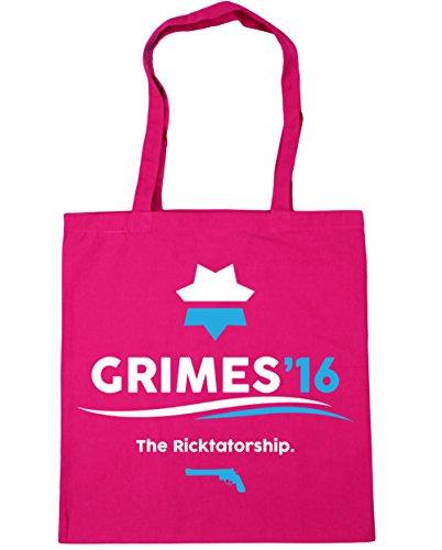 HippoWarehouse Grimes 2016la Ricktatorship Tote Compras Bolsa de playa 42cm x38cm, 10litros fucsia
