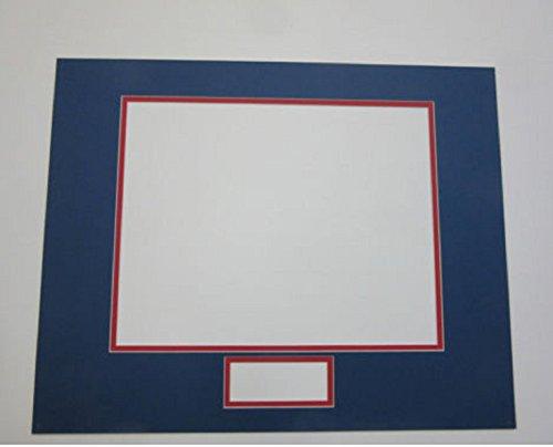 Signature Nameplate (USA Premium Store Photo Mat 11x14for 8x10 photo & 4x2 signature or nameplate medium blue and red)