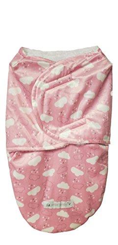 Soft Polar Fleece Newborn Baby Receiving Blanket Wrap Swaddle Sleeping Bag Sack (Pink Clouds)