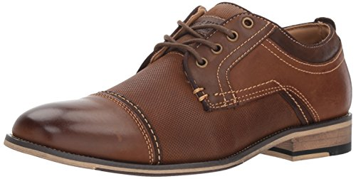 Steve Madden Men's Jakub Oxford, Dark tan, 10 M US