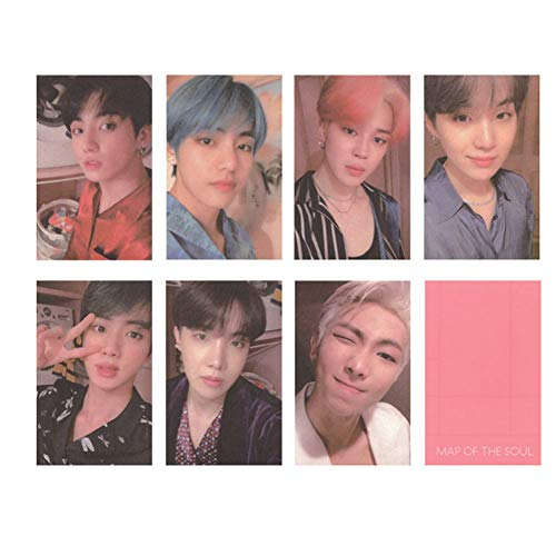 Nuofeng - Kpop Bangtan Boys Card MAP of The Soul : Persona Photo Lomo Cards Sticker Postcard Set Gift for A.R.M.Y(H07-7pcs)