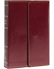 KJV, Reference Bible, Compact, Large Print, Snapflap Leather-Look, Burgundy, Red Letter, Comfort Print: Holy Bible, King James Version