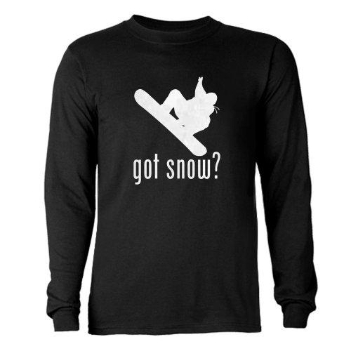 CafePress - Snowboarding 1 Long Sleeve Dark T-Shirt - Unisex Cotton Long Sleeve T-Shirt (Black Got Snowboarding)