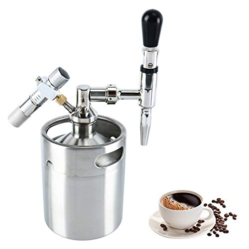 YaeBrew 64 Ounce Mini Stainless Steel Homebrew Coffee Keg System Kit, Nitro Cold Brew Coffee Maker 64 oz, Best Gift for Coffee Lovers DIY Updated by YaeBrew (Image #9)