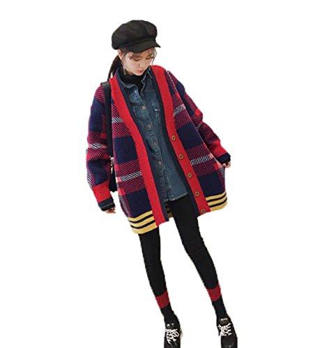 したがって覆す勝者アイビエツ(AIBIETU)レディース ファッション ニット カーディガン ゆったり 長袖 Vネック 通学 通勤 防寒 ロング コート 秋冬