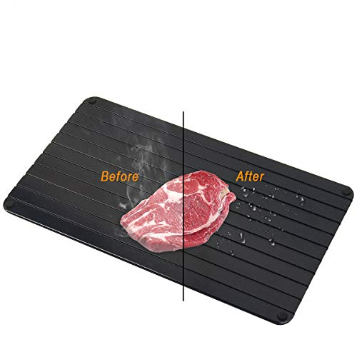 Coitak Defrosting Tray, Defroster for Defrost Frozen Food Quickly, Natural Way for Meat Defrosting, Large Size 13.8X7.8 inch