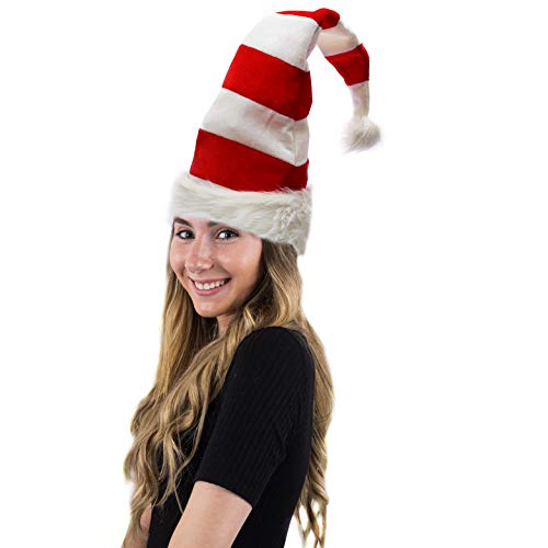 Funny Party Hats Christmas Hats - Candy Holiday Theme Hats - Santa Hats (Red and White Santa Hats) - http://coolthings.us