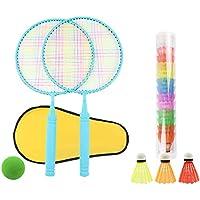 Homeatk para niños de bádminton Raquetas de Tenis Juguetes Set con 13 Bolas para 3 años por Encima de Las Muchachas de los Muchachos o Principiante portátil Jardín Ejercicio Regalo Juego