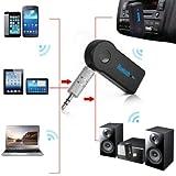 K.o.w @ Wireless Bluetooth 3,5mm AUX Audio Stereo Musik Auto Phone PC MAC Tablet Hände frei Lautsprecher Empfänger-Adapter mit Mikrofon