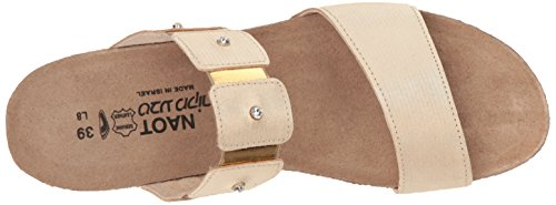 Naot Womens Ashley Leather Sandals Gold