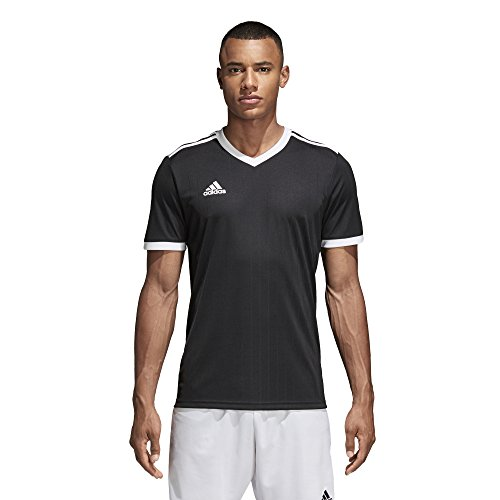 Mens White Drop Needle - Adidas Tabela 18 Jersey Black/White L