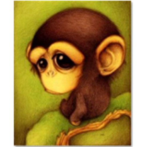 Fineser(TM) 5D DIY Animals Embroidery Paintings Embroidery Rhinestone Cross Stitch Arts Craft Canvas Wall Decor (Monkey(33x28cm)) Diamond Monkey