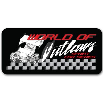 Sprint Car Decals - World of Outlaws Sprint racing dirt Vynil Car Sticker Decal - Select Size