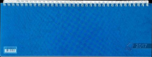 Baier & Schneider Querkalender Querterminbuch, 1 Woche/ 2 Seite, 297 x 105 mm, Karton, blau 2017