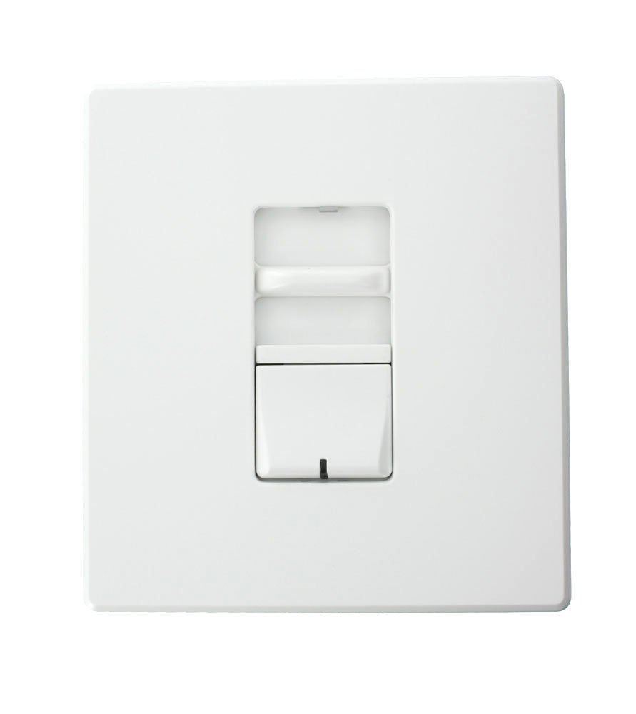 Leviton AWSMT-MCW Renoir II Preset Slide Dimmer, Incandescent, Thin Heat Sink, Wide, 12.5 A, White by Leviton