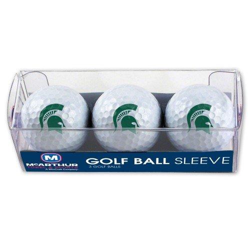 Golf Msu - WinCraft NCAA Michigan State University Golf Ball Sleeve (3 Piece)