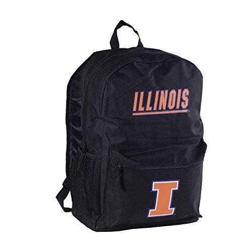 Illinois Fighting Illini Backpack (NCAA Illinois Illini Sprint Backpack, 18-inches)