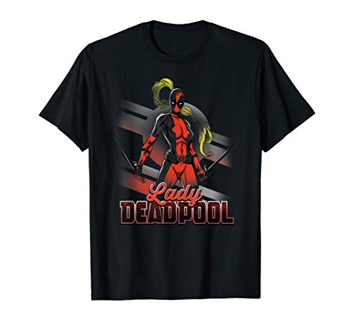 Marvel Deadpool Lady Anti-Stay-At-Home Mom Graphic T-Shirt -