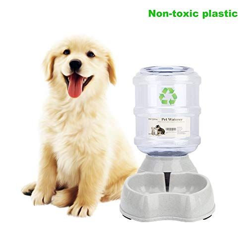 Old Tjikko Water Feeder for Dogs,1 Gallon Feeding Waterer Supplies,Automatic Dog Water Feeder Dispenser